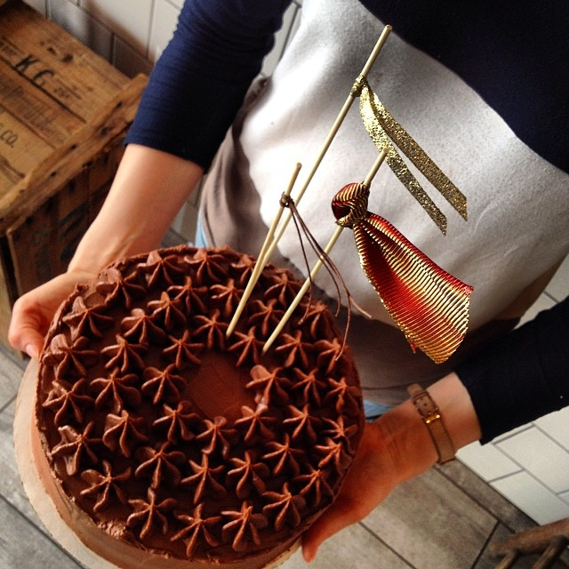 Vegan Chocolate Jam Cake with Chocolate Frosting